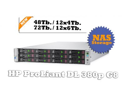 HP DL380P G8  72TB HDD / 16 Core / Storage-NAS
