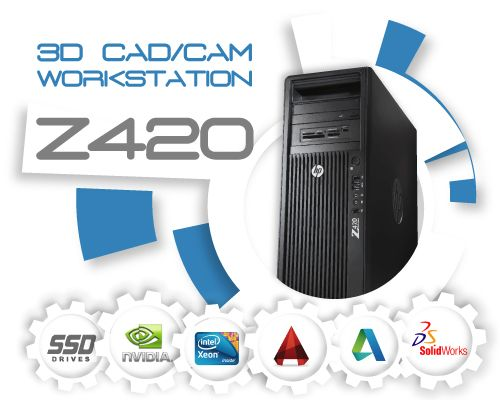 HP Z420 3D CAD/CAM  Systeem