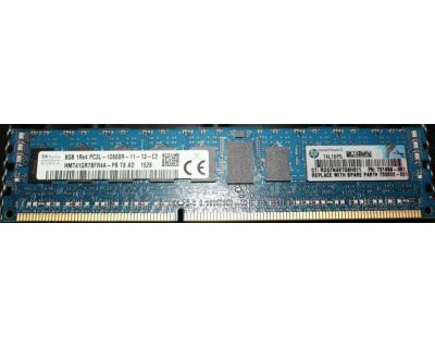 HP 8GB PC3-12800R DDR3-1600MHz ECC Reg P/N: 731656-081