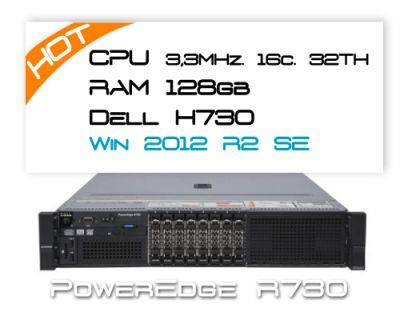 Dell R730 / 2x E5-2667v3 3,2GHz 16 Core / 128GB RAM / H730 / 2x 200GB SSD / Win 2012R2
