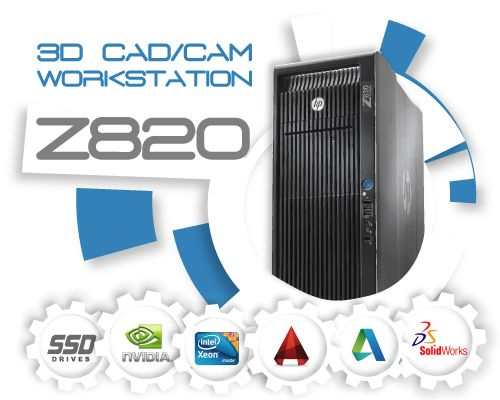 HP Z820 3D CAD/CAM Systeem