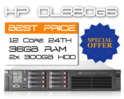 HP DL380G6 / 12 Core 24TH / 36GB RAM / 2x 300GB HDD