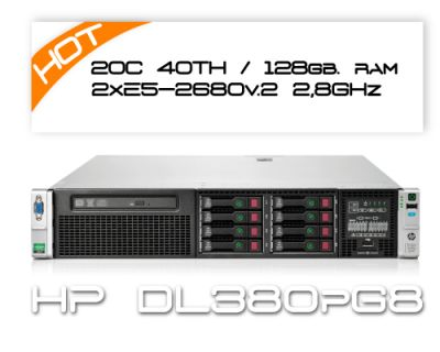 HP DL380P G8 / 2x E5-2680v2 2,8GHz 20C 40TH  / 128GB RAM