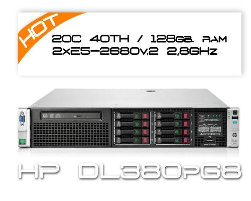 HP DL380P G8 / 2x E5-2680v2 2,8GHz 20C 40TH  / 128GB RAM