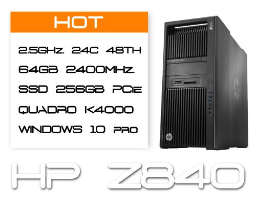 HP Z840 2x 12C E5-2678v3 2,5GHz 64GB RAM SSD 256GB K4000