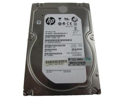 """HP 4TB 7.2K SAS 6G 3,5"""" P/N: 710490-003"""
