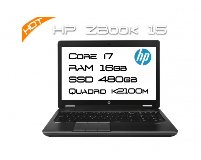 HP ZBook 15 / i7 4800MQ 2,7GHz 4 Core / 16GB RAM / K2100M / SSD 500GB