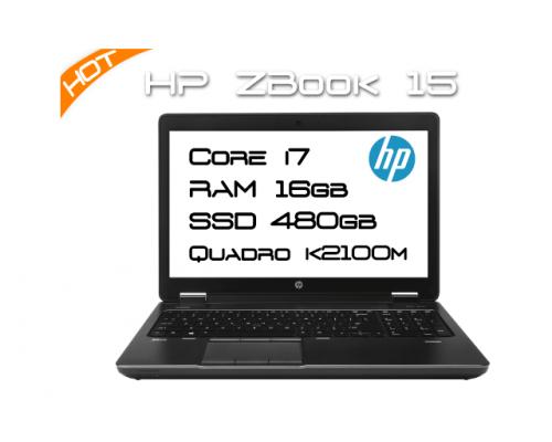 HP ZBook 15 / i7 4800MQ 2,7GHz 4 Core / 16GB RAM / K2100M / SSD 500GB