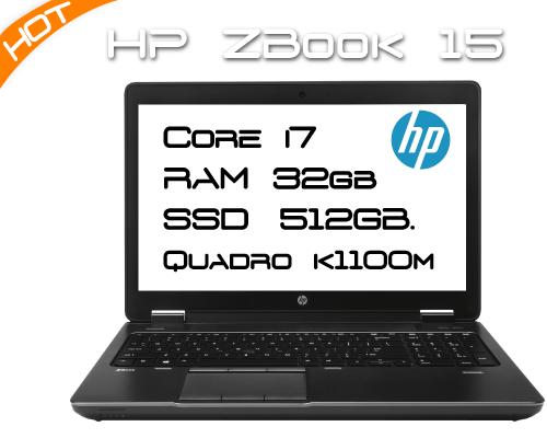 HP ZBook 15  / i7 4800MQ 2,7GHz 4 Core / 32GB RAM / K1100M / SSD 512GB