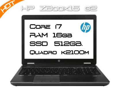 HP ZBook 15 G2 / i7 4810MQ 2,8GHz 4 Core / 16GB RAM / K2100M / SSD 512GB