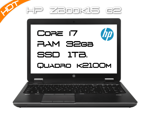 HP ZBook 15 G2 / i7 4910MQ 2,9GHz 4 Core / 32GB RAM / K2100M / SSD 1TB
