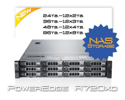 Dell R720XD 96TB HDD / 16 Core / Storage-NAS