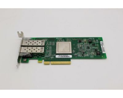 Dell QLE2562L PCI-E 8GB Dual Fibre HBA 2x 8Gb SFP LP P/N: RW9KF