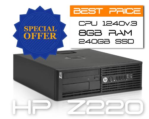 HP Z220 SFF E3-1240v2 3.4GHz 4C 8TH / 8GB / SSD 240GB
