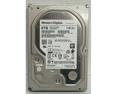 WD Ultrastar DC HC320 8TB 7.2K SATA 6G NIEUW P/N: 0B36452