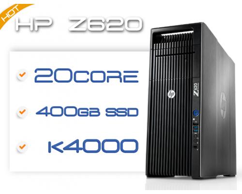 HP Z620 2x 10C E5-2680v2 2,8GHz / 64GB RAM / 500GB SSD / K4000